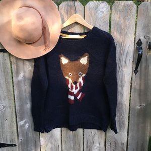 HP🦊 Fox in a scarf chunky sweater